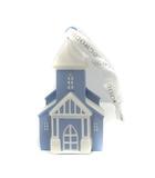 ウェッジウッド WEDGWOOD ハウス オーナメント クリスマス ブルー 白 ホワイト /YO23