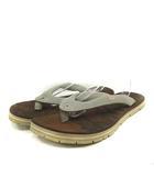 ビズビム VISVIM サンダル トング フラット スエード XL グレー 28cm-28.5cm /YO24