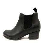 オデットエオディール Odette e Odile アローズ レインブーツ 長靴 ショート サイドゴア ラバー チャンキーヒール ハイヒール M 23cm 黒 /YI40