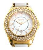フォリフォリ Folli Follie チェンジベゼルウォッチ 腕時計 クォーツ ストーン ゴールド色 白 /YI43