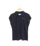 ブリーフィング BRIEFING ロゴプレート パイルポロシャツ 半袖 S 紺 ネイビー /MY ■OS