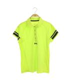 パーリーゲイツ PEARLY GATES ゴルフ 19SS ポロシャツ 半袖 切替 0 黄緑 /MY ■OS