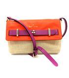 ケイトスペード KATE SPADE バッグ ショルダー ロゴ ベージュ オレンジ 紫 PXRU4271 /YI38 ■OH
