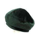 カシラ CA4LA 帽子 ベレー帽 ベルベット ベロア 緑 グリーン /SR