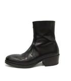 ルメール LEMAIRE 20AW zipped ブーツ ショート スクエアトゥ レザー 41 25.5cm 黒 ブラック /YO4 ■SH