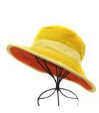 エルメス HERMES モッチプールエルメス MOTSCH POUR HERMES 帽子 ハット パイルハット 56 黄色 イエロー /YI7