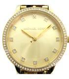 腕時計 クォーツ アナログ 3針 ラインストーン ゴールド色 MK-4395 /AN21