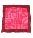 エルメス HERMES カレ65 スカーフ EN DESORDRE 無秩序 シルク ピンク ボルドー フランス製 /YO9 ■BT ■OH
