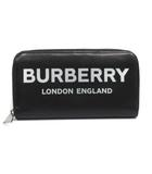 バーバリー BURBERRY 長財布 ラウンドファスナー ロゴプリント レザー 黒 ブラック 8009211-blk /YO10