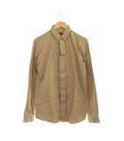 バーバリー BURBERRY コットンシャツ 長袖 比翼ボタン 40 ベージュ /MY ■OS ■SH