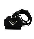 プラダ PRADA ナイロン AirPods Pro ケース シルバー 金具 黒 ブラック 1ZD005 /AN15 ■OH