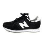 ニューバランス NEW BALANCE スニーカー ロゴ スエード 切替 23 黒 ブラック /SR