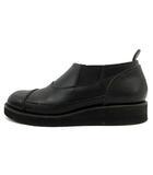 ズッカ zucca サイドゴアシューズ ブーツ ショート レザー ウエッジソール M 黒 AJ317 /YI4