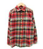 カトー KATO` ネルシャツ 長袖 薄手 チェック柄 XS マルチカラー レッド 赤 グリーン 緑 /MS38