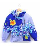 PHENIX スキーウエア ジャケット アウター フード 花柄 中綿 長袖 160 ブルー 青 /FT8