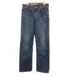 リー LEE パンツ デニム ジーンズ ジップフライ ストレート ロング 31×33 紺 ネイビー
