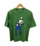 ソフネット SOPHNET. Tシャツ クルーネック プリント 半袖 S 緑 グリーン