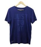 ナイキ NIKE THE NIKE TEE Tシャツ クルーネック ロゴ プリント 半袖 M 青 ブルー