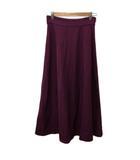 ナチュラルビューティーベーシック NATURAL BEAUTY BASIC スカート フレア ロング 無地 S 紫 パープル