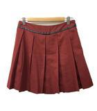 オリーブデオリーブ OLIVE des OLIVE スカート プリーツ ミニ 無地 赤 レッド