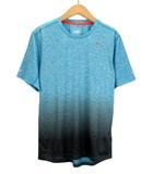 プーマ PUMA Tシャツ REBEL RUN SS ランニング グラデーション S 青