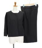 カルバンクライン CALVIN KLEIN スーツ ジャケット ノーカラー ワイドパンツ ガウチョ ウール 4 国内正規 黒 ブラック