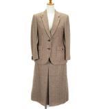 バーバリーズ Burberrys スーツ ジャケット スカート 千鳥格子 ウール 9 国内正規 ベージュ