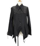 ボディーライン BODY LINE ロングポイントシャツジャケット ゴスロリ ロリータ パンク 4L 黒 ブラック