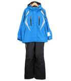 デサント DESCENTE JUNIOR SUIT スキーウェア 上下セット ジャケット パンツ 160 青 ブルー 黒 ブラック