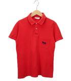 セリーヌ CELINE ヴィンテージ ポロシャツ ロゴ 刺繍 半袖 フランス製 赤 レッド