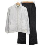 プリンス Prince テニス セットアップ ウインドブレーカー パンツ L 白 ホワイト 黒 ブラック