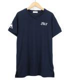 ルコックスポルティフ le coq sportif Tシャツ カットソー チュニック Vネック 半袖 M 紺 ネイビー