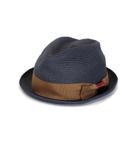 カシラ CA4LA 帽子 中折れハット リボン ペーパー 紺 ネイビー