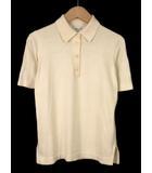 アルマーニ コレツィオーニ ARMANI COLLEZIONI ポロシャツ ニット 半袖 コットン カシミヤ 42 イタリア製 国内正規 クリーム色