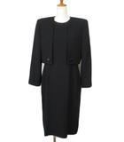 SOIR BENIR 東京ソワール スーツ フォーマル 礼服 ジャケット ワンピース 11 15 黒 ブラック