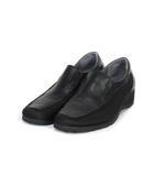 asics walking pedala アシックスウォーキング ペダラ ウォーキングシューズ ウェッジソール レザー 22 黒 ブラック