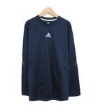 アディダス adidas climalite SQ L/S Tシャツ カットソー ロングスリーブ ランニング L 国内正規 紺 ネイビー