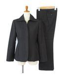 ミッシェルクラン MICHEL KLEIN スーツ ジャケット パンツ ストレート ウール 40 グレー