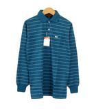 マックレガー マクレガー McGREGOR ポロシャツ ボーダー 長袖 コットン 160 青 ブルー