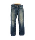 リーバイス Levi's 522 パンツ ジーンズ デニム ボタンフライ クラッシュ 32 青 ブルー