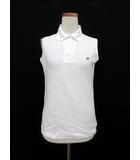 アーノルドパーマー Arnold Palmer ポロシャツ ノースリーブ 刺繍 ロゴ L 白 ホワイト /yo