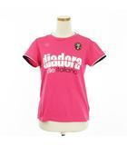ディアドラ DIADORA シャツ 半袖 テニスウェア ロゴ ラインストーン L ピンク ☆CA7☆ cys0225