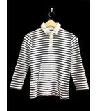 イエナ IENA ポロシャツ ボーダー 七分袖 白 ホワイト 紺 ネイビー /FH15