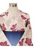 ショコラフィネローブ chocol raffine robe 浴衣 帯 下駄 セット ストライプ 花柄 F ピンク