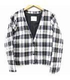 スライ SLY ジャケット ダウン ノーカラー チェック 2 白 ホワイト