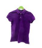 ラルフローレン RALPH LAUREN ポロシャツ 半袖 鹿の子 ロゴ M 紫 パープル /M2