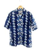 オムニゴッド OMNIGOD シャツ 半袖 総柄 4 紺 ネイビー /MK