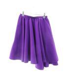 スタニングルアー STUNNING LURE スカート フレア ひざ丈 無地  紫 パープル /M2