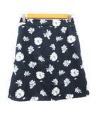マジェスティックレゴン MAJESTIC LEGON スカート 台形 ミニ 花柄 F 紺 ネイビー /AAM33