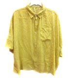 グランマママドーター GRANDMA MAMA DAUGHTER シャツ 半袖 花柄 0 黄色 イエロー /YI